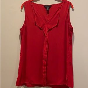WHBM size M red sleeveless ruffle top